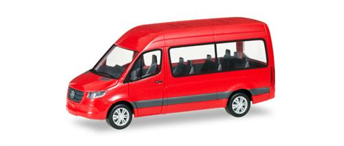 Mercedes-Benz Sprinter Bus high roof, red- 1:87 / H0 - Herpa