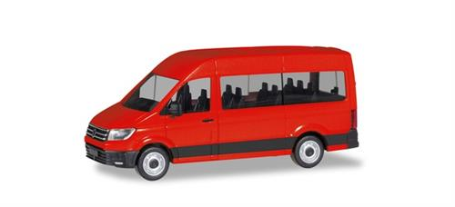 VW Crafter Bus high Roof, red - 1:87 / H0 - Herpa
