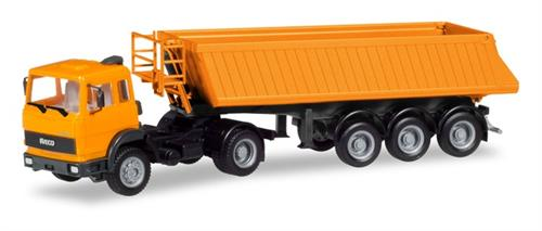 Iveco dump semitrailer, communal orange - 1:87 / H0 - Herpa