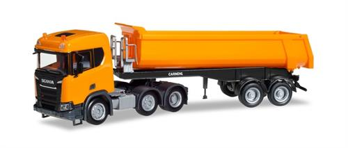 Scania CR ND XT 6x2 dump semitrailer, communal orange - 1:87 / H0 - Herpa