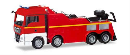 "MAN TGX XLX Euro 6c Empl wrecker ""Fire Department"" - 1:87 / H0 - Herpa"