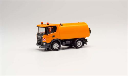 Scania CG 17 road sweeper, communal orange - 1:87 / H0 - Herpa