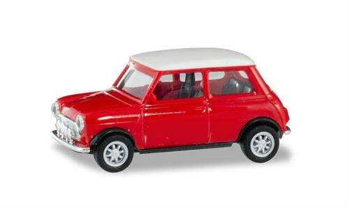 Mini Cooper with additional headlights, red - 1:87 / H0 - Herpa