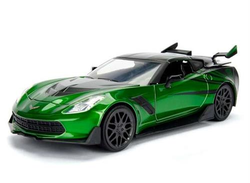 "Transformers: 2016 Corvette Stingray ""Crosshairs"" - ""Transformers (5) - The Last Knight"" - 1:24 - Jada Toys"