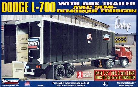 Dodge L-700 Tilt Cab with Box Trailer and Cargo Boxes - 1:25 - Lindberg