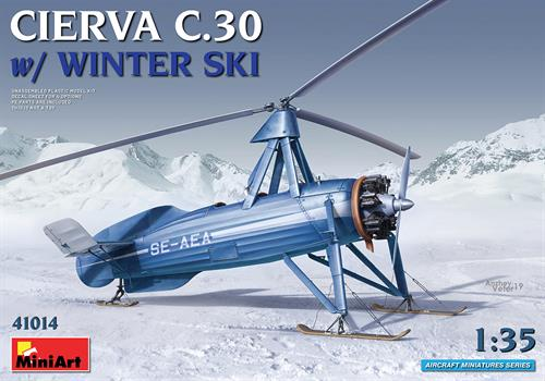 Cierva C.30 with Winter Ski - 1:35 (OBS! 1:35 model) - MiniArt