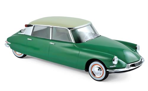 Citroën DS 19 (1956), green with champagne roof - 1:18 - Norev