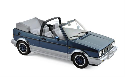 "VW Golf Cabriolet ""Bel Air"" (1992), blue metallic - 1:18 - Norev"