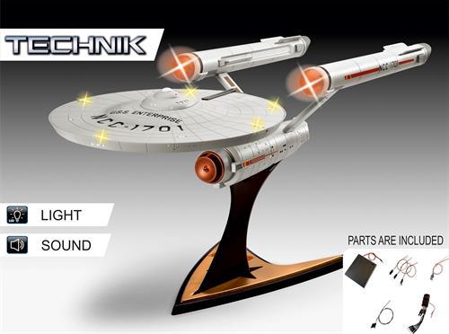 U.S.S. Enterprise NCC-1701 (Star Trek: The Original Series) - Technik - 1:600 - Revell