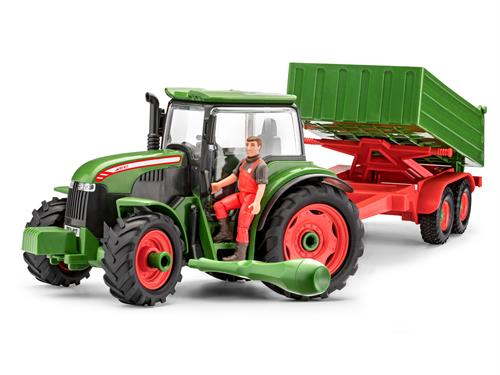 Tractor & Trailer with Figure - 1:20 - Junior Kit - Revell