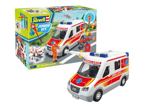 Ambulance with figure - 1:20 - Junior Kit - Revell