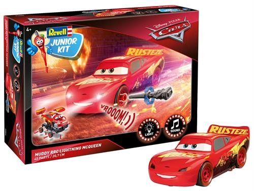 Cars 3: Muddy RRC Lightning McQueen Crazy 8 Race m/lys & lyd - 1:20 - Junior Kit - Revell
