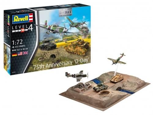 75 Years D-Day Set (Bf 109, P-51B, Sherman & PzKpfw. IV) - 1:72 - Revell