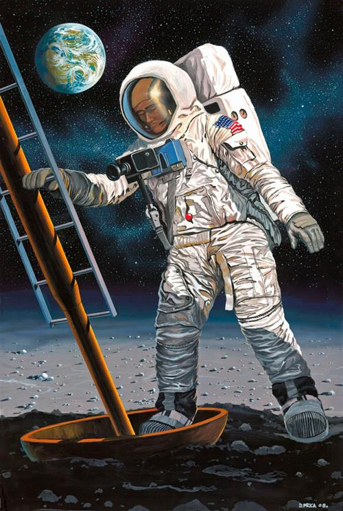 Apollo 11 Astronaut on the Moon (50th Anniversary Moon Landing 1969-2019) - 1:8 - Revell