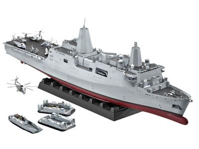 Amphibious Transport Dock U.S.S. New York (LPD-21) (superdetaljeret model med fotoætsede metaldele) - LIMITED EDITION - 1:350 - Revell (Udsolgt fra fabrik)