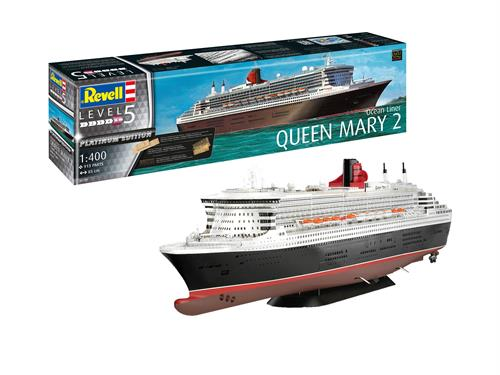 Queen Mary 2 (superdetaljeret model med fotoætsede metaldele) - LIMITED EDITION - 1:400 - Revell