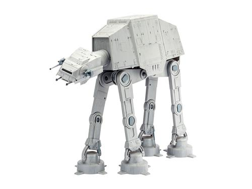 "STAR WARS AT-AT - 40th Anniversary ""The Empire Strikes Back"" (Indhold: 1 model, 6 dåser basismaling, lim og pensel) - 1:53 - Revell"