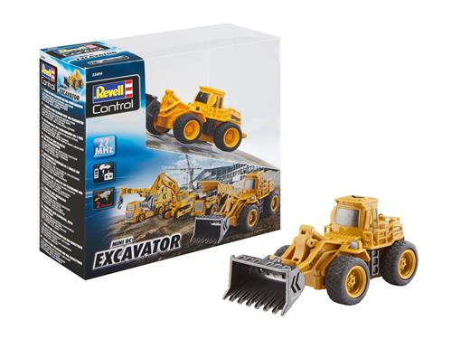 Mini RC Excavator (gummiged/wheel loader) - RTR - 27 MHz - Revell Control