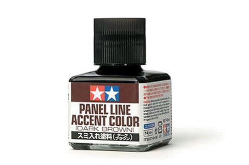 Panel Line Accent Color - Dark Brown - 40ml - Tamiya