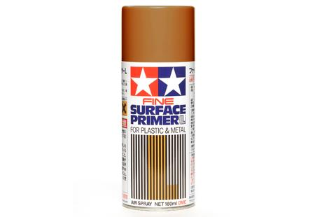Surface Primer Large for Plastic & Metal (Oxide Red), spray 180 ml - Tamiya