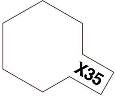 X-35 Semi Gloss Clear, Acrylic Mini 10 ml (penselmaling, blank) - Tamiya