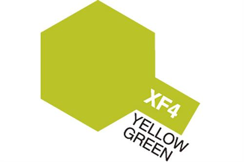 XF-4 Yellow Green, Acrylic Mini 10 ml (penselmaling, mat) - Tamiya