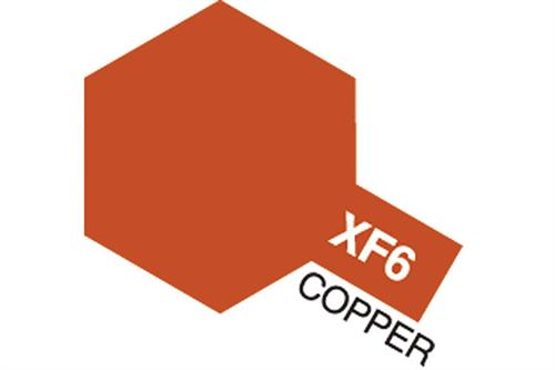 XF-6 Copper, Acrylic Mini 10 ml (penselmaling, mat) - Tamiya