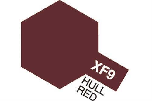 XF-9 Hull Red, Acrylic Mini 10 ml (penselmaling, mat) - Tamiya