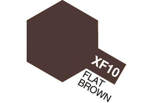 XF-10 Flat Brown, Acrylic Mini 10 ml (penselmaling, mat) - Tamiya