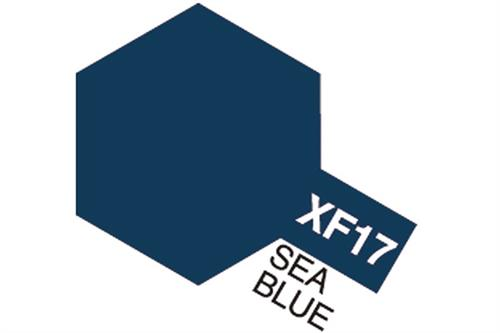 XF-17 Sea Blue, Acrylic Mini 10 ml (penselmaling, mat) - Tamiya