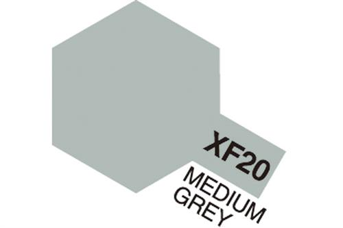 XF-20 Medium Grey, Acrylic Mini 10 ml (penselmaling, mat) - Tamiya