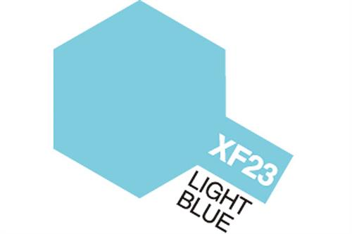 XF-23 Light Blue, Acrylic Mini 10 ml (penselmaling, mat) - Tamiya