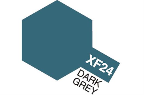 XF-24 Dark Grey, Acrylic Mini 10 ml (penselmaling, mat) - Tamiya
