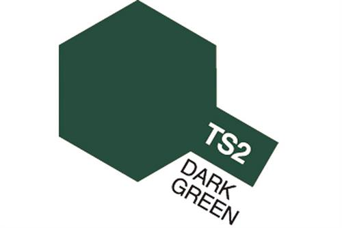 TS-2 Dark Green, spray 100 ml - Tamiya
