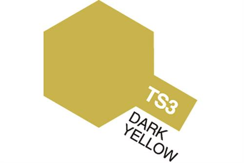 TS-3 Dark Yellow, spray 100 ml - Tamiya