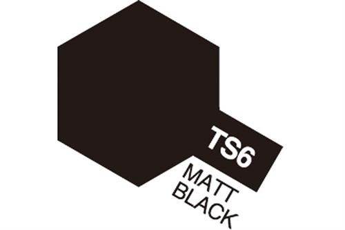 TS-6 Matt Black, spray 100 ml - Tamiya
