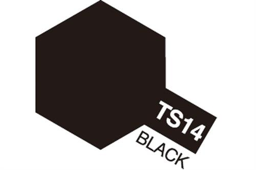 TS-14 Black, spray 100 ml - Tamiya