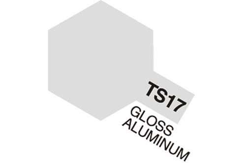 TS-17 Gloss Aluminum, spray 100 ml - Tamiya