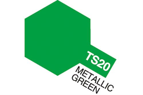 TS-20 Metallic Green, spray 100 ml - Tamiya