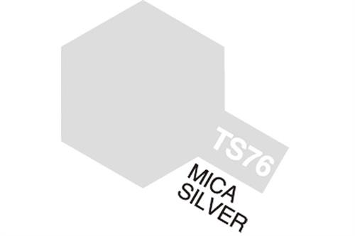 TS-76 Mica Silver, spray 100 ml - Tamiya