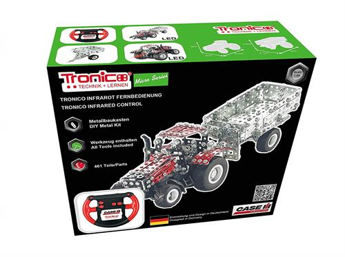R/C CaseIH Magnum med tipanhænger (IR fjernstyring) - 1:64 - Tronico (Micro Series)