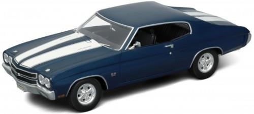 1970 Chevrolet Chevelle SS454, blue - 1:18 - Welly