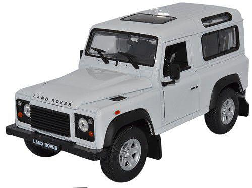 Land Rover Defender, silver - 1:24 - Welly