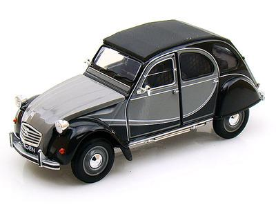 1982 Citroen Charleston 2CV, grey/black - 1:24 - Welly