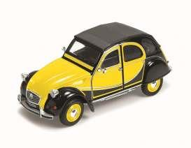 1982 Citroen Charleston 2CV, yellow/black - 1:24 - Welly