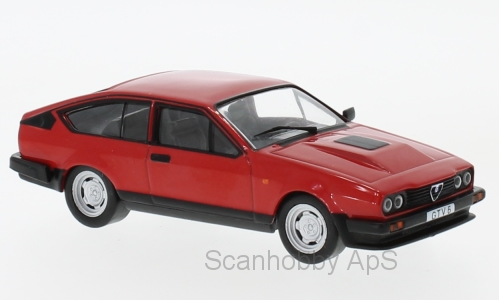 Alfa Romeo GTV 6 (1985), red - 1:43 - WhiteBox