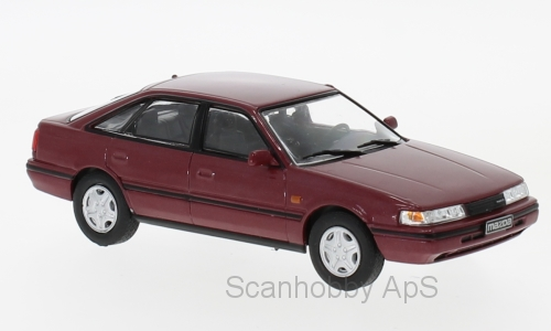 Mazda 626 (1990), dark red metallic - 1:43 - WhiteBox