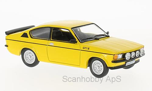 Opel Kadett C GT/E (1978), yellow - 1:43 - WhiteBox