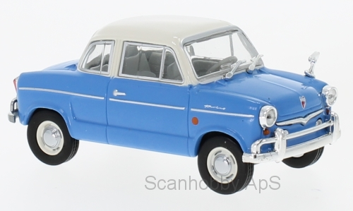 NSU Prinz 30E (1959), blue/white - 1:43 - WhiteBox